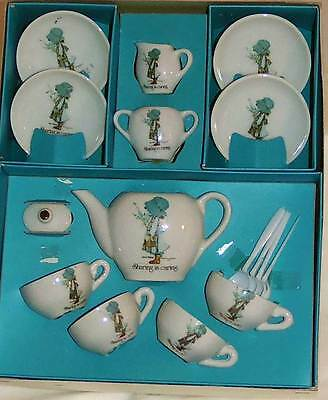 Vintage Child Tea Set for 4 Holly Hobbie Tea Set Collector Free Shipping