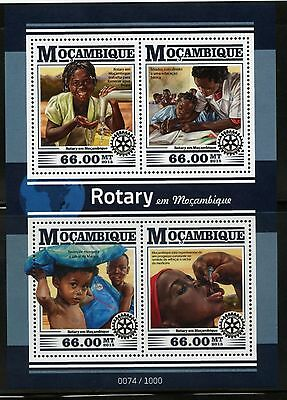 Mozambique 2015 Rotary In Mozambique Sheet Mint Never Hinged