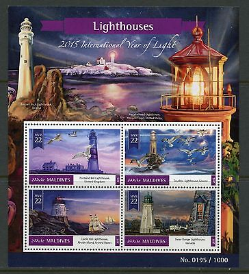 Maldives  2015 Lighthouses Sheet Mint Never Hinged