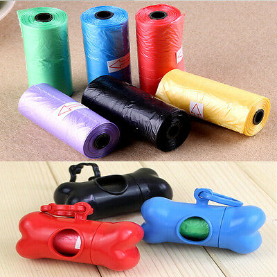 50 Rolls Portable 750 Dog Pet Waste Poop Poo Refill Core Pick Up Clean-Up Bags