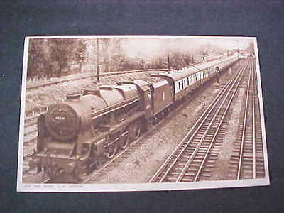 British Railways Train The Red Rose L M Region Postcard