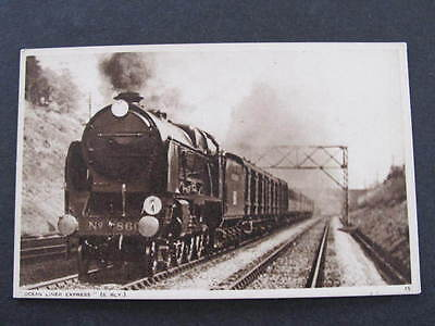 Ocean Liner Express Railway Train Postcard