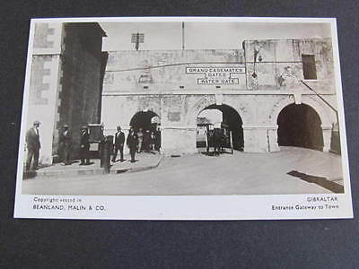 Gibraltar Entrance Gateway to Town RPPC Postcard