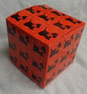Scotty Scottie Dog Dept 56 Red And Black  Small Gift Box