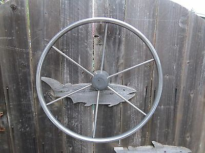 Authentic 20 Inch Stainless Steel Boat Ships Wheel Sailboat Decor (#1417)