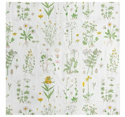 IKEA Shower Curtain STRANDKRYPA white fabric GARDEN FLORAL SPRING NEW NICE DISC.