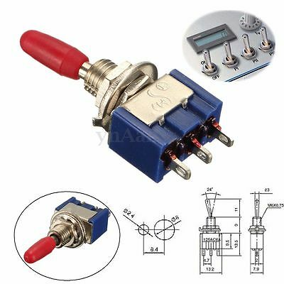 Lot Mini MTS-102 3-Pin Interrupteur à Levier Bascule ON-ON Toggle Switch 6A 125V