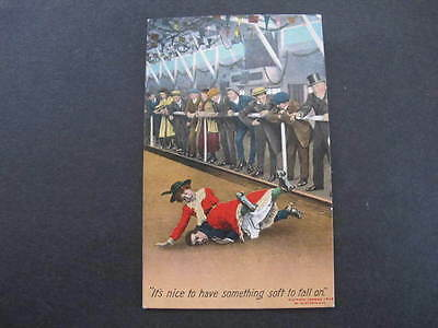 Bamforth Postcard Falling on something soft