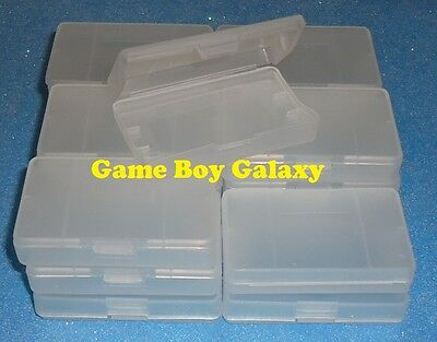 20 Clear Plastic Cases Nintendo Game Boy Advance gba games cartridge dust covers