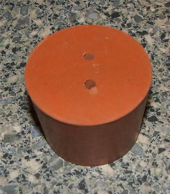 15mm 2-Hole Red Rubber Stopper Bung Sci Laboratory NEW