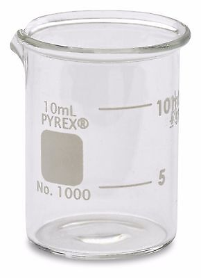 Corning Pyrex® #1000 Griffin Low Form, Glass Beaker, 10ml - Single