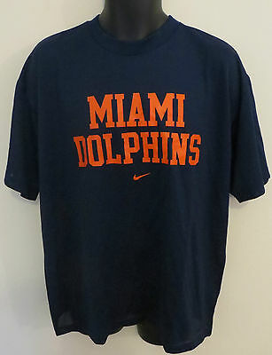 Nike Miami Dolphins T-Shirt American Football Mesh Tee NFL Jersey Camiseta L