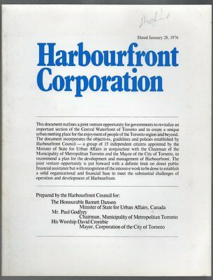 HARBOURFRONT CORPORATION 1976 Official Report Toronto Central Waterfront