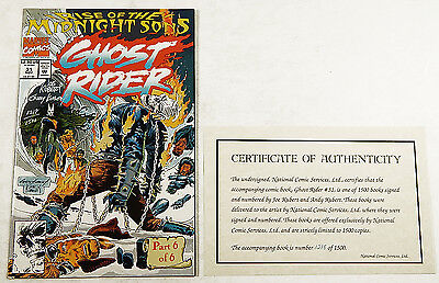Ghost Rider #31 (Nov 1992) Signed On Cover By Joe & Andy Kubert #'d /1500 Marvel