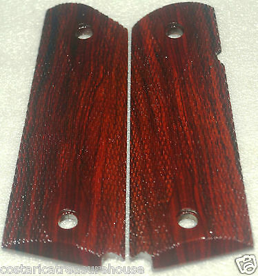 1911 FULL SIZE GRIPS COCOBOLO full DOUBLE DIAMOND CHECKNG AMBI~CUT L-YY & P-XX