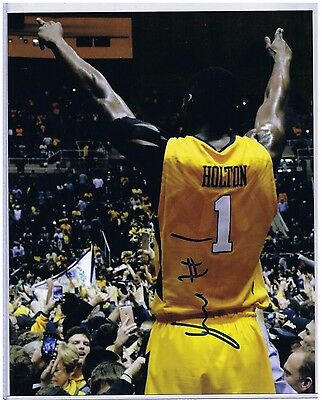 Jonathan Holton West Virginia Mountaineers Signed 8x10 #3 Press Virginia