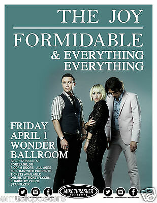 The Joy Formidable / Everything Everything 2016 Portland Concert Tour Poster
