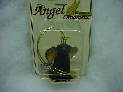 FLAT-COATED RETRIEVER dog ANGEL Ornament Resin Figurine NEW puppy Christmas