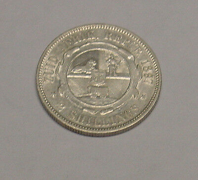 SOUTH AFRICA. 1897 Kruger silver florin, gVF. Boer War type coinage.