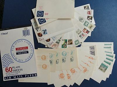 Postcards US Domestic Rate Stamps Envelopes Olympics Hancock Thomas Train Temple