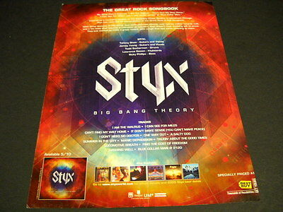 STYX The Great Rock Songbook 2005 full page magazine FRAMEABLE IMAGE