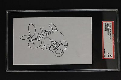 NASCAR Legend RICHARD PETTY The King Autographed 3x5 Card SGC Authentic Signed