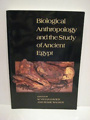 Biological Anthropology Ancient Egypt *RARE/NICE*1993 MUMMIES TOMBS ARCHAEOLOGY