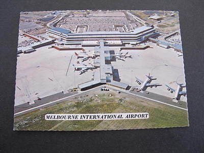 Melbourne International Airport older Postcard