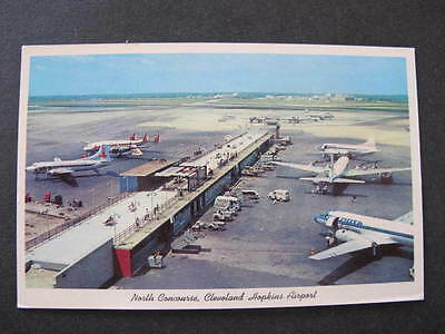 North Concourse Cleveland Hopkins Airport Postcard