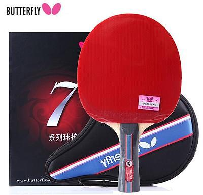 Butterfly Professional TBC702 7 Star Shakehand Racket Long Handle Super Paddle