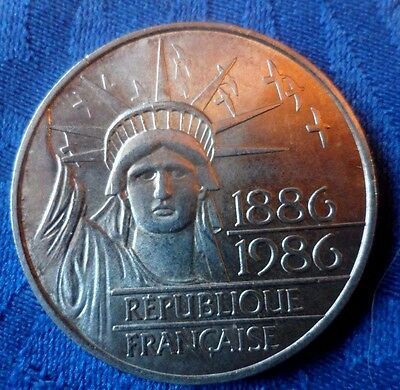 Tres Belle Piece De Collection 100F Liberte 1986  En Argent   A Voir!!