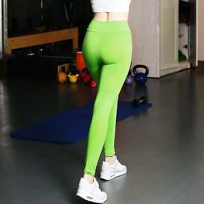 Womens Sport Yoga Running Pants Fitness Gym Clothes High Waist Trousers Leggings