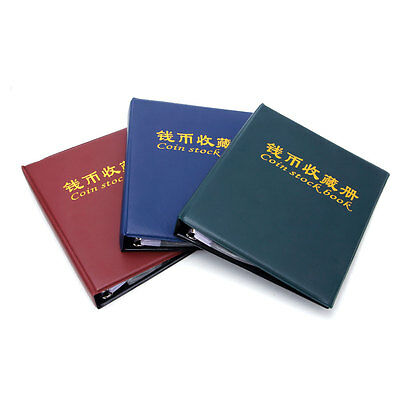 Coin Stock Album Book Holder Collection Storage Loose-leaf Pockets Collecting