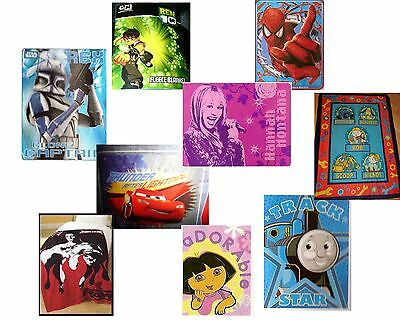 Manta Polar, Fleecé STAR WARS COCHES Thomas BOB Dora HANNAH MONTANA WWE BEN
