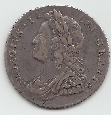 Rare 1728 Plumes Silver Sixpence 6d - George II
