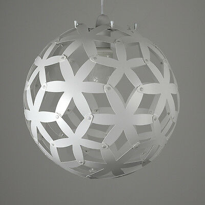 Contemporary White Geometric Star Globe Ceiling Pendant Light Shade Lampshade