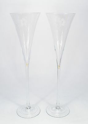 2 x antique Champagne glass Champagne flute