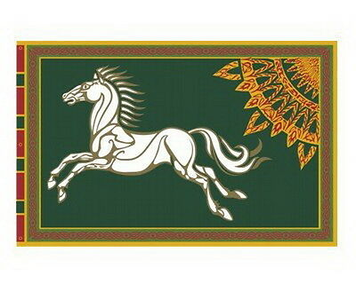 """ROHAN Lord of the Rings Flag-Green- Large 59"""" x 39""""-Imported- FREE S&H (FW-3020)"""