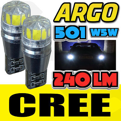 Audi A4 S4 B6 00-04 Bright Canbus Led Side Light 501 W5W T10 Cree White Bulbs