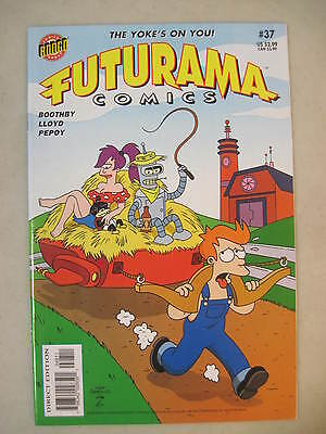 Futurama Comics #37 Bongo Comics Group Lela Nibbler Fry Bender Cover