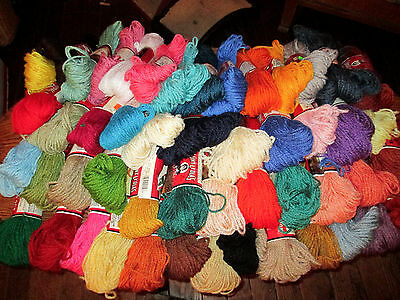 Vintage Aunt Lydia's Polyester Heavy Rug Yarn - 70 Yd Skeins - 54 Colors - craft