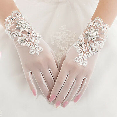 New Ivory Sexy Bridal Finger Glove Wedding Prom Party Costume Gloves