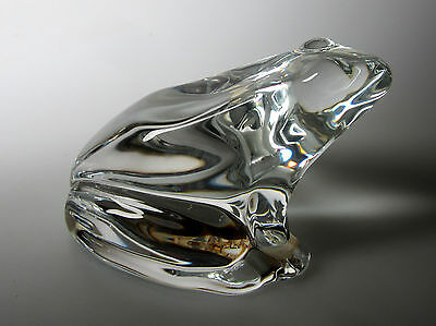 Baccarat Crystal Paperweight/figurine  Frog