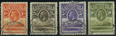 Basutoland, SG 1/10, 1933 set of 10v fine used, the 5/- and 10/- with 'Monja' ca