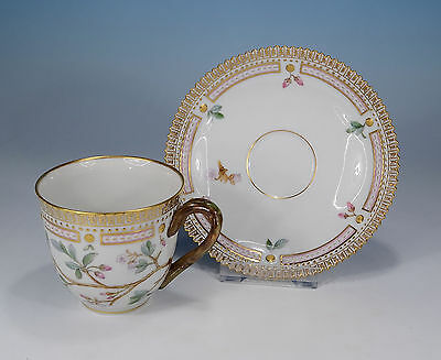 "Royal Copenhagen ""Flora Danica"" Coffee Cup And Saucer 1939 First Quality"