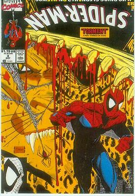 Marvel Comics Postcard: Spiderman # 3 cover (Todd McFarlane) (USA, 1991)