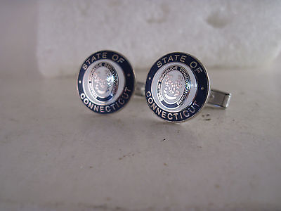 Connecticut  Seal cloisone  logo  cufflinks