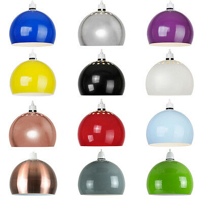 Contemporary Retro Metal Domed Arco Ceiling Pendant Light Shade Lighting
