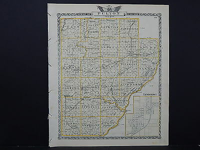 Illinois Map, 1876 Double Sided Counties of Fulton and McDonough L17#20