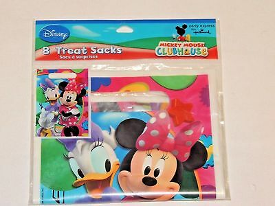 New 8 Minnie Mouse  Mickey Mouse Club House Treat Sacks Loot Bags Party Supplies